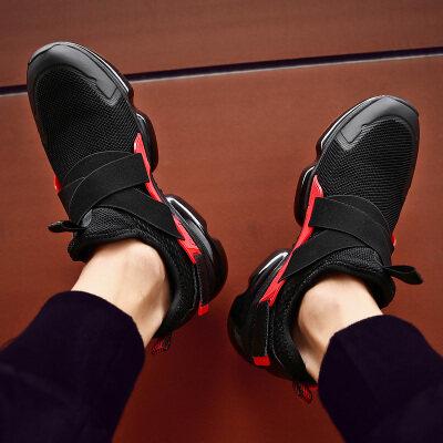 男鞋夏季夏男士跑步鞋透气网面夏款网鞋休闲鞋子男白色运动鞋