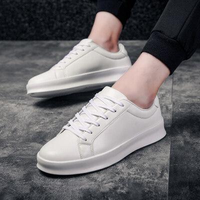 男鞋皮鞋夏季2019新款鞋子透气百搭休闲潮流板鞋男士小白鞋