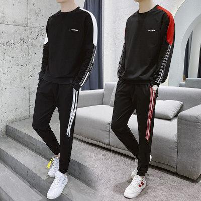秋季套装2019新款卫衣男士休闲运动服运动裤两件套