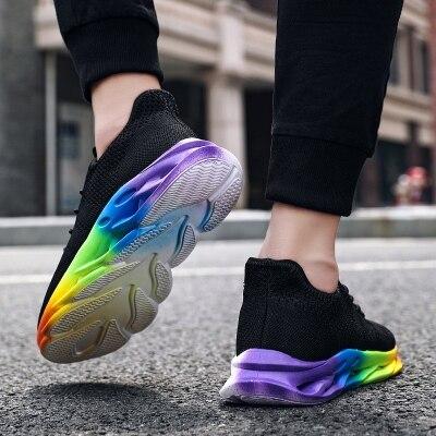满足【2025】彩虹麻花男鞋飞织跑步鞋超轻跑鞋39-44批4