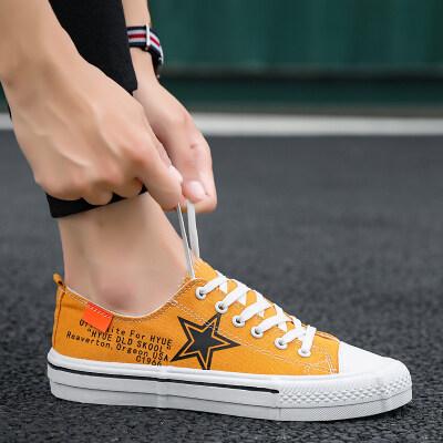 长红F801夏季新款帆布男鞋韩版百搭运动休闲板鞋透气布鞋