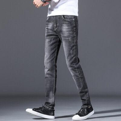 男士修身显瘦小脚裤2019秋季新款韩版时尚青年弹力男士裤子