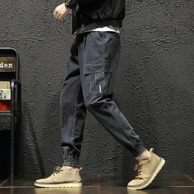 棚拍立  K18450-P55 100%棉 新款大码休闲裤 男