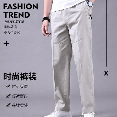 四季百搭日系复古男士直筒休闲裤宽松纯色港风潮牌工装裤布裤长裤