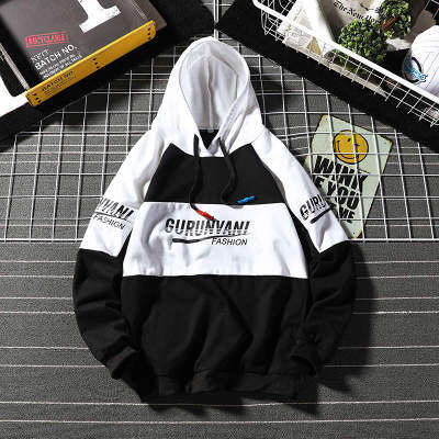 黑毯摆拍  W19106-P55 78%聚酯纤维22%棉 新款大码卫衣男