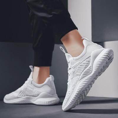2019新款跑步鞋小白鞋潮夏季男士防滑休闲运动鞋韩版潮流透气网鞋