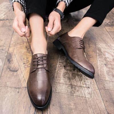 男士皮鞋韩版潮流布洛克男鞋子英伦商务正装休闲小皮鞋男夏季透气