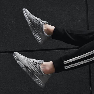 夏季男鞋韩版大码百搭飞织运动休闲板鞋男士跑步网面潮鞋