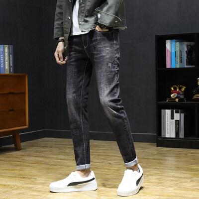 1910时尚靓仔小脚裤黑蓝两色 室内风