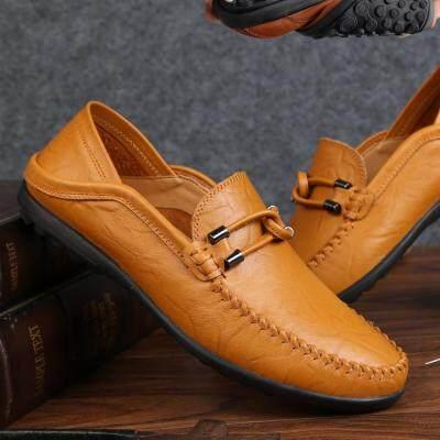 豆豆鞋男士休闲鞋子驾车鞋男鞋春季透气真皮鞋男潮流懒人新款单鞋