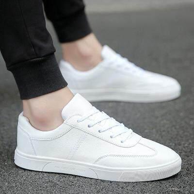 百搭潮鞋子学生夏季小白鞋透气休闲白鞋运动板鞋帆布韩版潮流男鞋