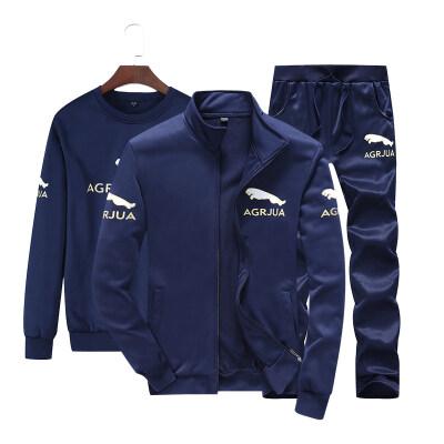2019秋季新款男士休闲运动套装青少年学生两件套男士外套潮