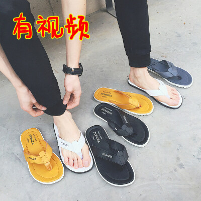 拖鞋男夏季凉拖防滑休闲潮夹脚时尚外穿男士凉鞋沙滩鞋室外人字拖