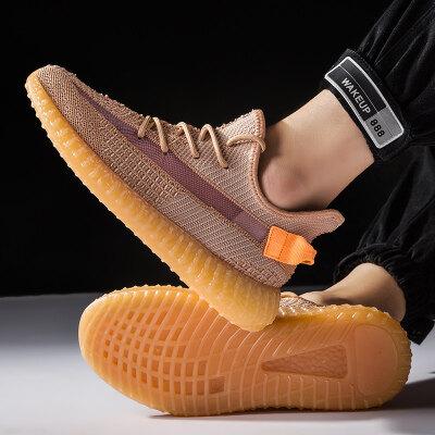满足【T8228】兵马俑350v2椰子鞋运动潮鞋飞织男鞋39