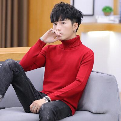 男士毛衣男春秋季新款休闲高领针织衫韩版潮流个性帅气889
