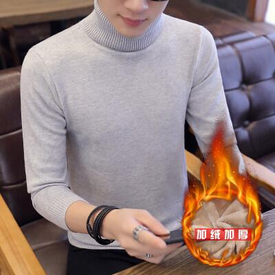 毛衣男士秋季韩版高领线衣男秋冬装个性针织衫加绒JR889