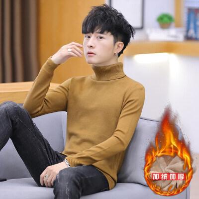 男士毛衣男春秋季新款休闲针织衫韩版潮流个性帅气889高领毛衣