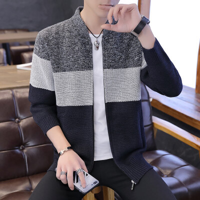 春秋男士毛衣韩版修身潮流针织打底衫外套男线衣983毛衣开衫