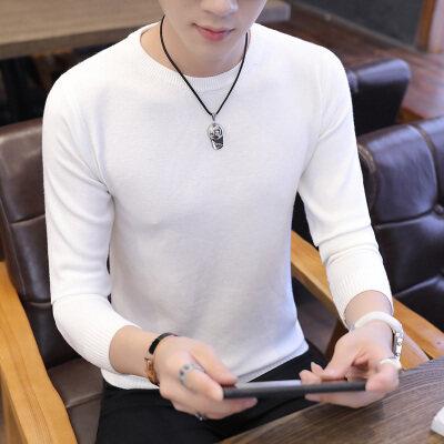毛衣男韩版修身男士套头圆领针织衫潮流青年学生薄款毛线衣815-1