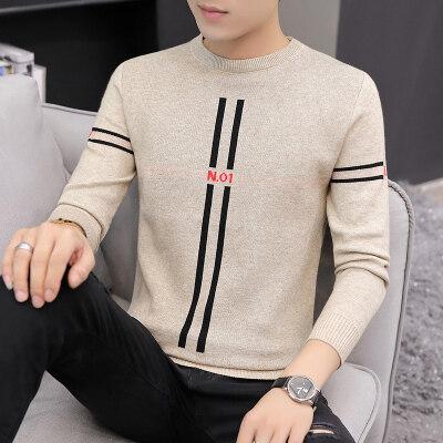 春秋季男士毛衣韩版衣服修身上衣男装针织衫线衣打底衫男533