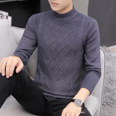 春秋季男士毛衣韩版衣服修身上衣男装针织衫线衣打底衫男517羊绒