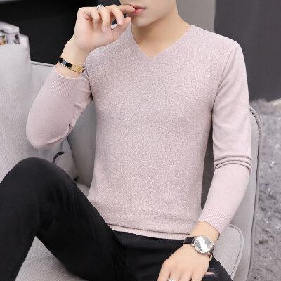 春秋季男士毛衣韩版衣服修身上衣男装针织衫个性线衣打底衫男507
