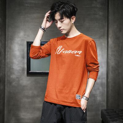 秋季长袖T恤新款男士长袖潮流打底衫纯棉新款T桖 6013