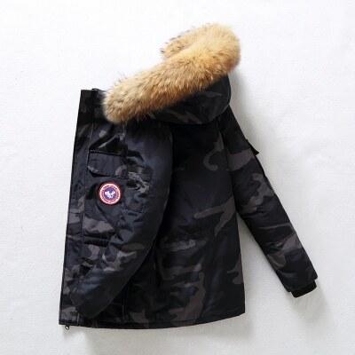 加拿大羽绒服男潮短款新款冬季大鹅雪咒加厚学生工装情侣外套16