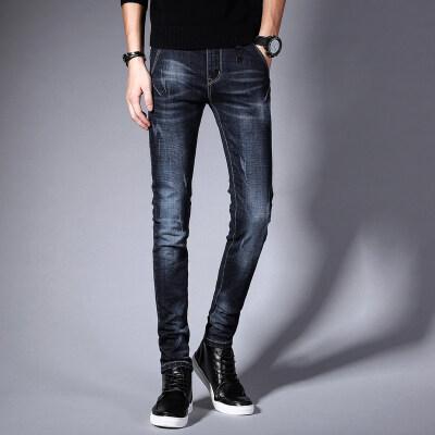 修身弹力牛仔裤男士潮流韩版青年休闲裤男装秋季新品男士韩版潮流