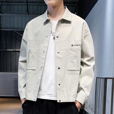 男士2019新款夹克外套工装夹克连帽夹克连帽外套