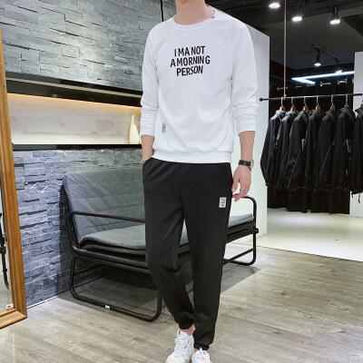 2019春季新款时尚潮流卫衣两件套宽松休闲运动套装秋款
