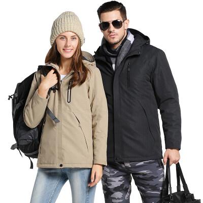 智能加热冲锋衣棉服情侣装充电保暖防寒滴滴代驾户外男女发热外套