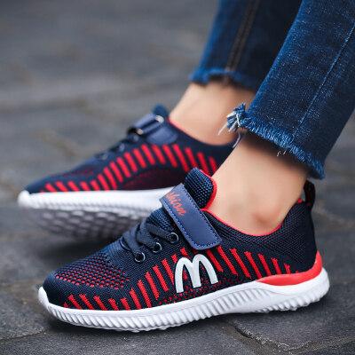 童鞋男春秋儿童飞织网面女童运动鞋轻便耐磨防滑批发