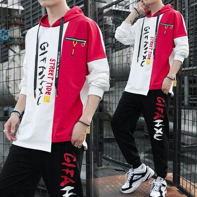 男士卫衣套装韩版潮流秋冬季休闲上衣服秋装帅气长袖T恤一套学生