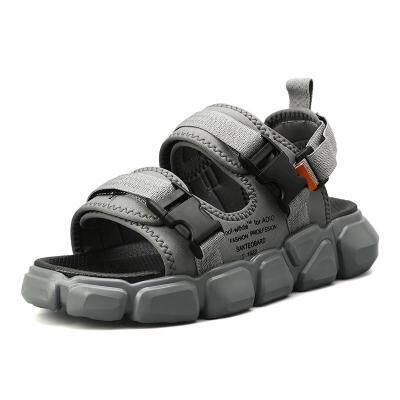 2019新款厚底沙滩凉拖外穿个性潮拖两用网红拖鞋夏季男士ins凉鞋