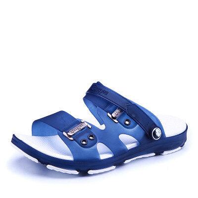 夏季男士凉鞋2019新款防滑拖鞋室外塑胶耐磨凉拖两用洞洞沙滩鞋潮