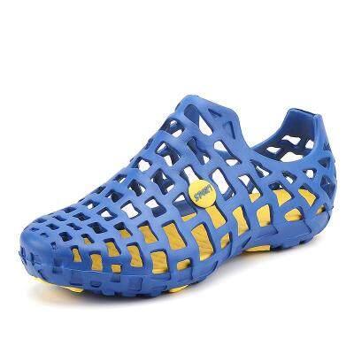 拖鞋男士洞洞鞋包头夏季新款防滑沙滩鞋室外涉水潮韩版休闲凉鞋男
