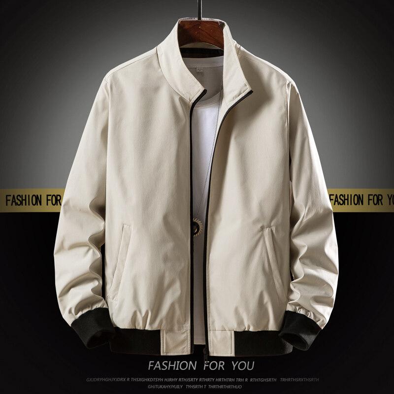 春秋季中年男士夹克中老年人40-50岁休闲薄款上衣爸爸秋装外