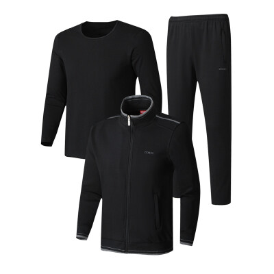 春秋中老年棉质运动套装男爸爸装两件套加纯棉T恤三件套8306