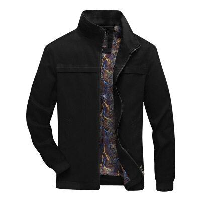 跨境男士夹克秋季薄款休闲立领男外套青少年时尚百搭帅气潮流男装