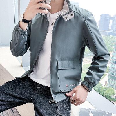 2020新款休闲夹克男秋季韩版潮流宽松外套长袖时尚帅气棒球服
