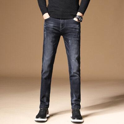 秋季新款男士牛仔裤修身小脚韩版潮流宽松直筒弹力学生男生青少年