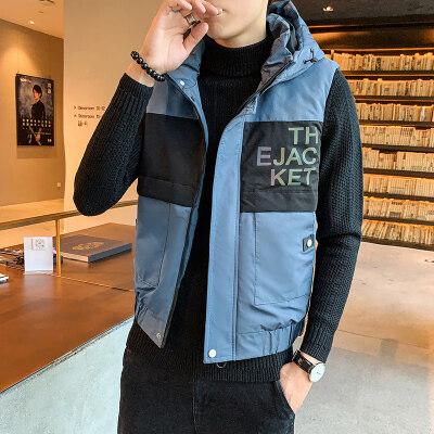 2019新款马甲秋冬季男士休闲时尚潮流棉马甲