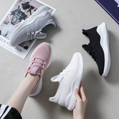 夏季小白鞋女2019新款网面透气运动鞋子轻便软底百搭学生跑步潮鞋