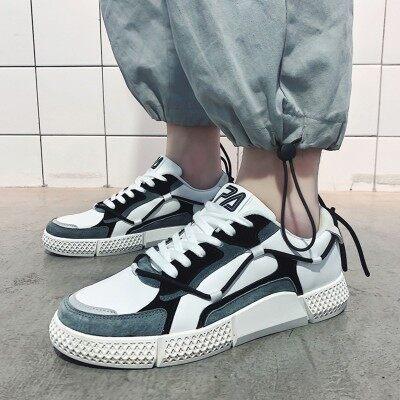 ins透气男鞋百搭潮鞋2019新款韩版潮流板鞋夏季休闲帆布网红鞋子