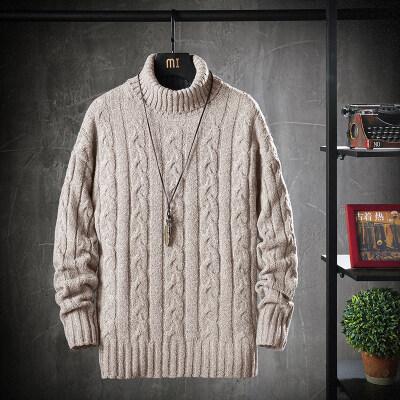 布衣梵8919麻花款高领粗针毛衣 店里现货