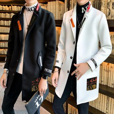 【内附质检】男士外套韩版宽松夹克帅气中长款风衣服潮BF186 P55