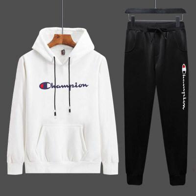 厂家大量现货2019秋季冠军男士休闲运动套装学生青少年卫衣