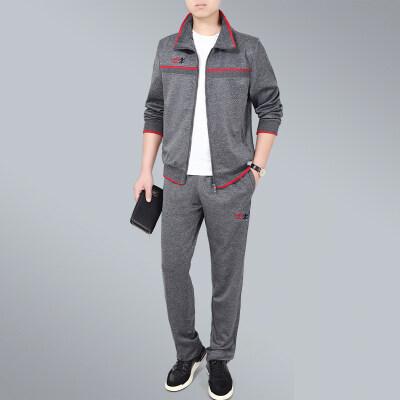 秋季新款中老年套装长袖开衫休闲裤套装男士运动休闲两件套爸爸装