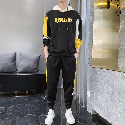 2019秋季卫衣男士运动套装韩版潮流休闲宽松男装一套搭配